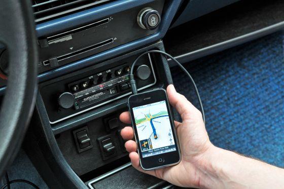 Navigations-App auf Handy