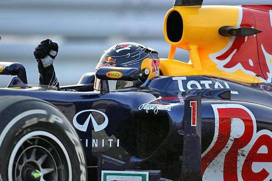 Vettel holt den zweiten Titel