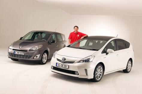 Renault Grand Scénic Dynamique 2.0 16V 140 CVT Toyota Prius+
