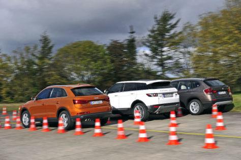 Audi Q3 BMW X1 Range Rover Evoque