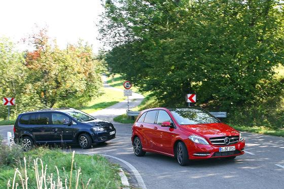 Mercedes B 180 vs. VW Touran 1.2 TSI