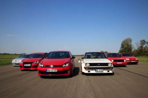 Sechs getunte Golf GTI