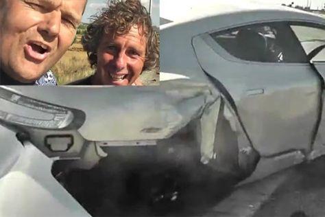 Aston Martin Rapide gecrasht