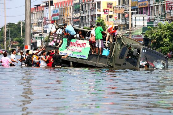 Überschwemmung in Bangkok