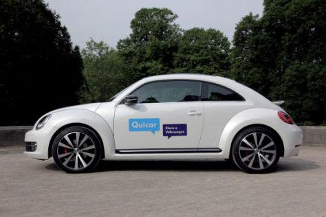 VW Beetle für Carsharing-Projekt Qiucar