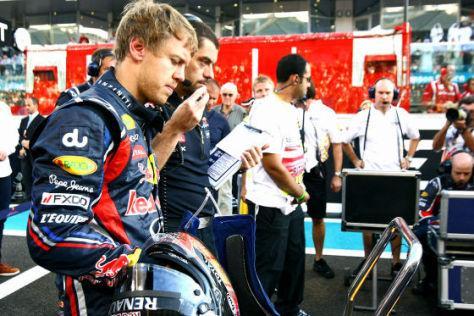 Sebastian Vettel beim GP Abu Dhabi 2011