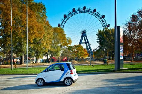 Car2go-Smart vor dem Wiener Prater