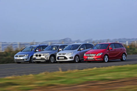 BMW X1 Ford C-Max Mercedes B-Klasse VW Golf Plus