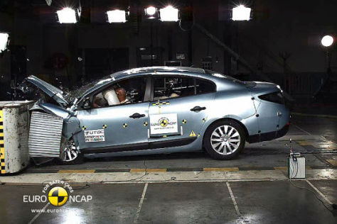 Renault Fluence ZE Euro NCAP Crashtest November 2011