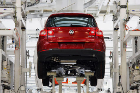Produktion des VW Tiguan in Wolfsburg