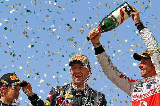 Mark Webber Sebastian Vettel Jenson Button