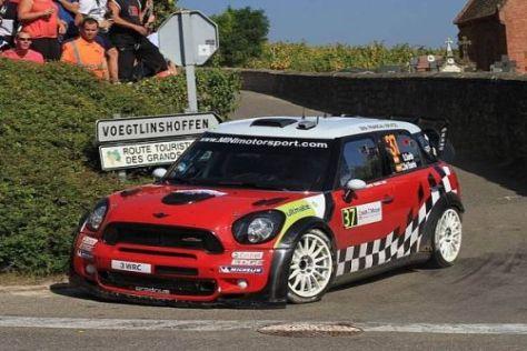 Bei der Rallye Frankreich fuhren Sordo/del Barrio den MINI auf Platz zwei