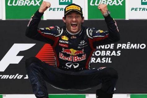 Beim Saisonfinale in Brasilien gelang Mark Webber der einzige Saisonsieg