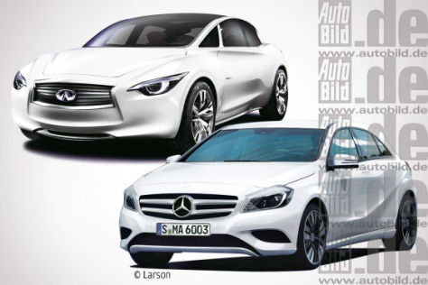 Infiniti Etherea ; Mercedes B-Klasse
