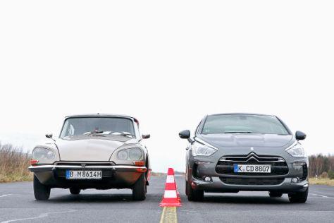Citroën DS 20 Pallas und Citroën DS5 THP 200 Sportchic