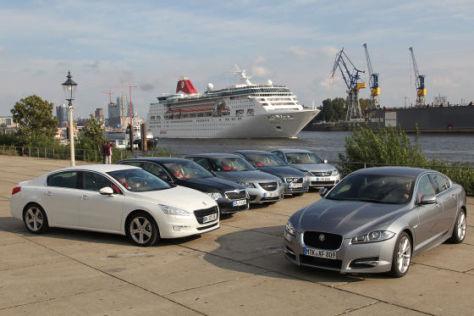 Saab 9-5 TiD; Jaguar XF 2.2D; Renault Latitude dCi175; Volvo S80 D 5; Peugeot 508 HDi 205 GT; Skoda Superb 2.0 TDI