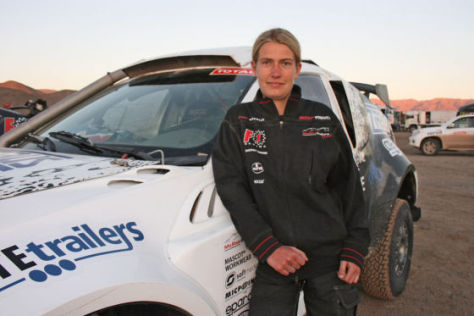 Stefanie Manns bei der Rallye Dakar
