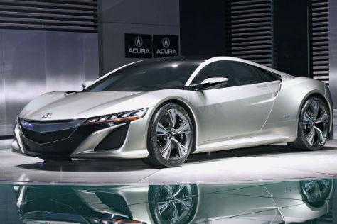 Acura  on Acura Honda Nsx  Wiedergeburt Auf Der Detroit Auto Show 2012