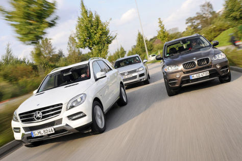 Mercedes ML 350 Bluetec VW Touareg V6 TDI BMW X5 xDrive 30d