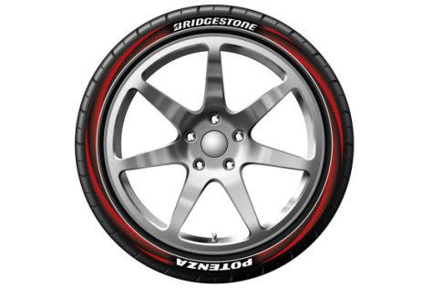 Bunter Reifen von Bridgestone