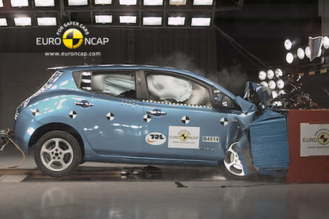 Nissan Leaf Euro NCAP-Crashtest Mai 2011