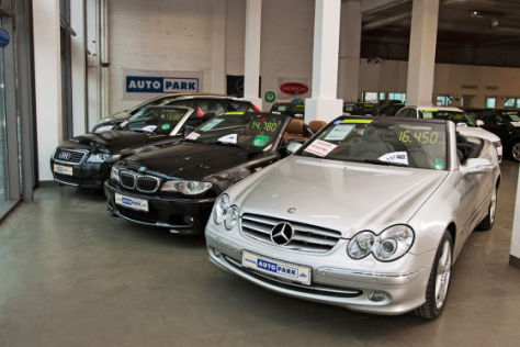 Audi A4, BMW 3er, Mercedes CLK