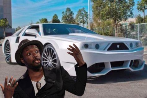 Rapper Will.I.Am und Auto I.Am