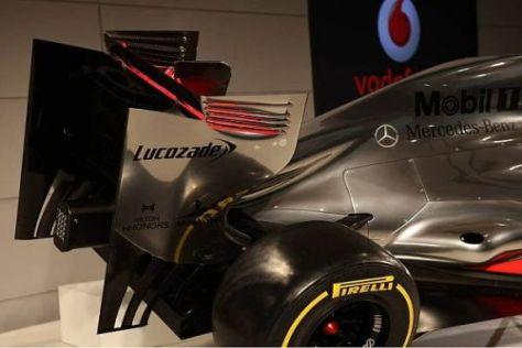 Der McLaren MP4-27 bei der Vorstellung: Plastikauspuff und kein echter Diffusor