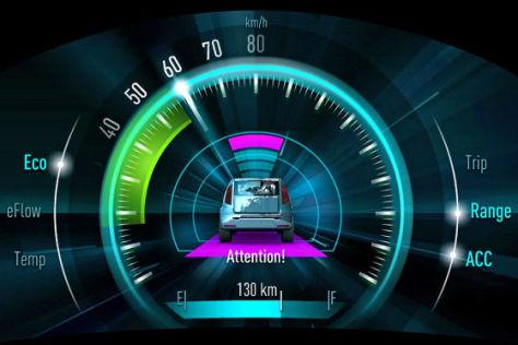 Armaturen auto  Plastischer Tacho: 3D-Armatur von Johnson Controls - autobild.de