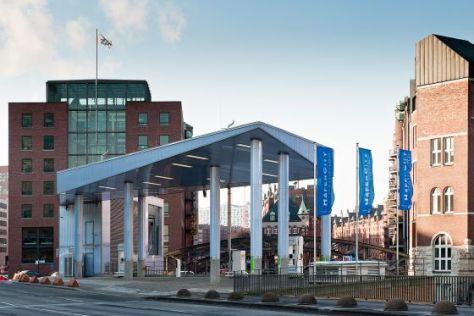 Wasserstoff-Tankstelle in der Hafencity