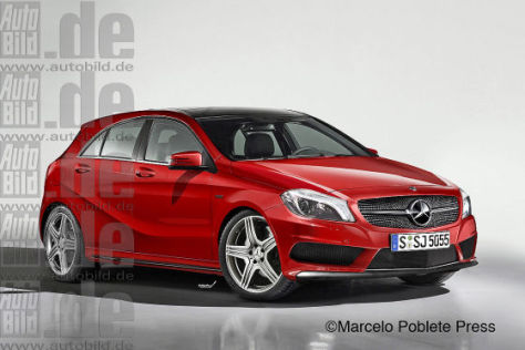 Mercedes A-Klasse Illustration