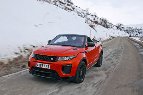 range rover evoque cabrio 2016 im test fahrbericht preis. Black Bedroom Furniture Sets. Home Design Ideas