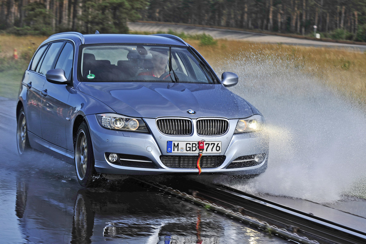 Aquaplaning-Test