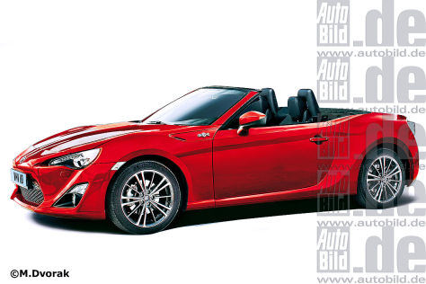 Toyota GT 86 Cabrio (Illustration)