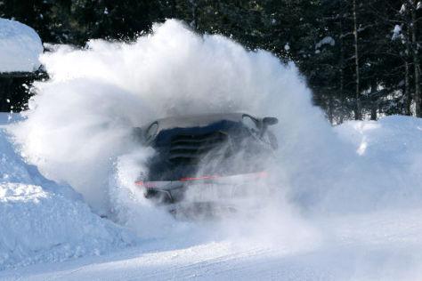 Erlkönig Lamborghini Aventador im Schnee
