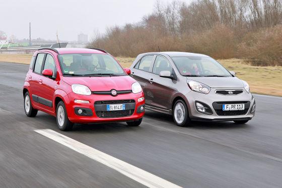 Kleine im Vergleich: Der neue Fiat Pand trift auf den Kia ...