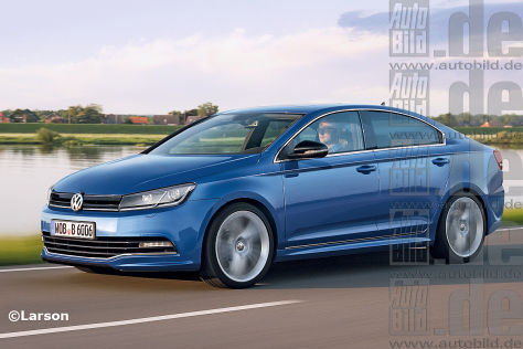 VW Golf CC Illustration