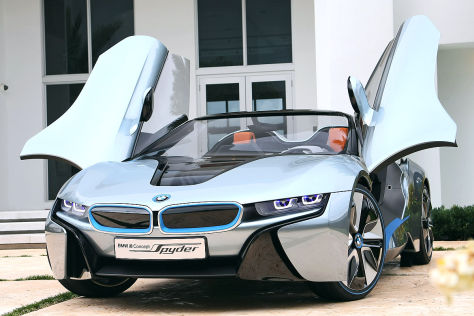 bmw i8 concept spyder leichtbau roadster mit hybridantrieb. Black Bedroom Furniture Sets. Home Design Ideas