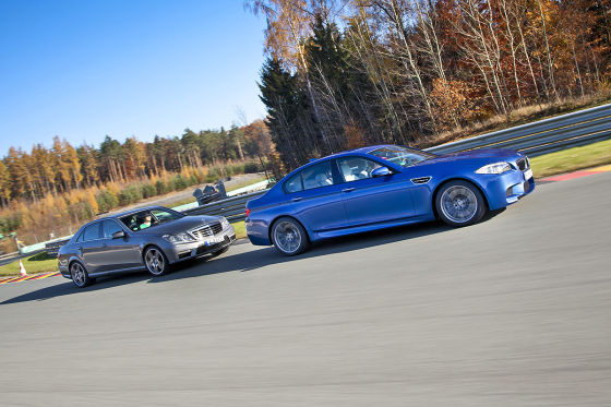 BMW M5 Cadillac CTS-V Jaguar XFR Mercedes E 63 AMG