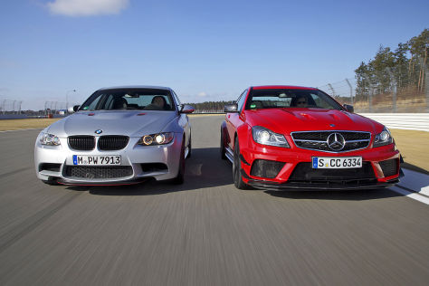 BMW M3 CTR Mercedes C 63 AMG Black Series