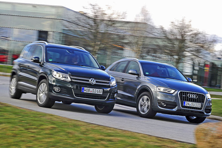 suv vergleich audi q3 gegen vw tiguan bilder. Black Bedroom Furniture Sets. Home Design Ideas