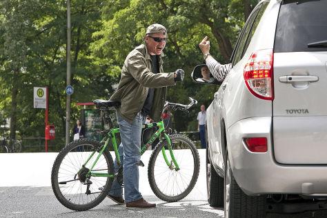 Zunahme der Fahrrad-Rowdies