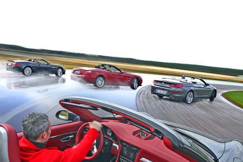 BMW 6er Cabrio Jaguar XKR Cabrio Mercedes SL Porsche 911 Carrera S Cabrio