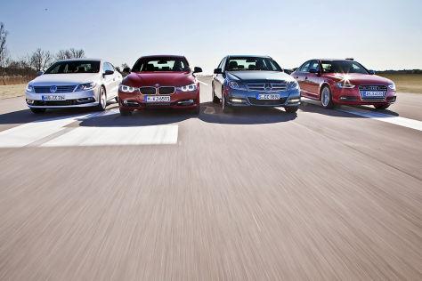 VW CC 3.6 FSI, BMW 335i, Mercedes C350, Audi S4