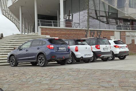 Vier kompakte SUVs im Vergleich