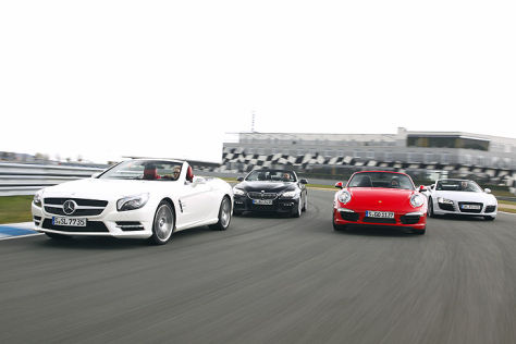 BMW 650i/Mercedes SL 500/Porsche 911/Audi R8: Vergleich