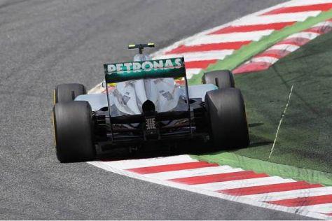 Nico Rosberg betrieb im Grand Prix von Spanien als Siebter Schadensbegrenzung