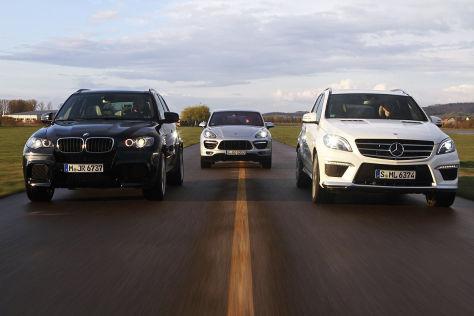 BMW X5 M/Mercedes ML 63 AMG/Porsche Cayenne Turbo: Vergleich