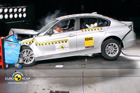 BMW 3er Euro-NCAP-Crashtest Mai 2012