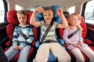 Fünf Kindersitz-Versager